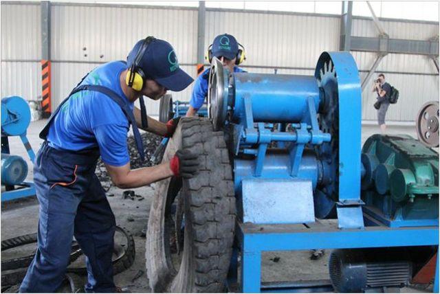 Утилизация шин: мини завод по переработке покрышек