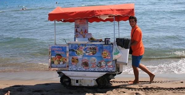 Массаж на пляже и другие развлечения как бизнес