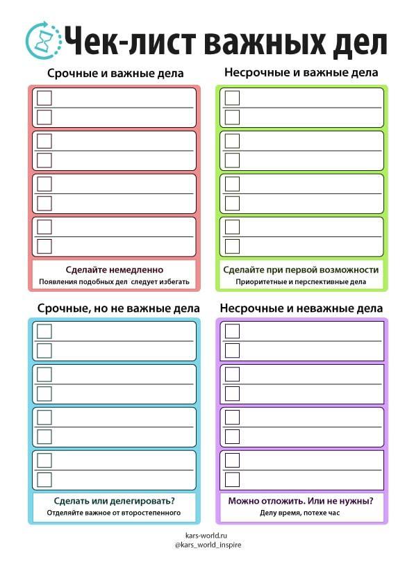 Образцы чек-листов для производства
