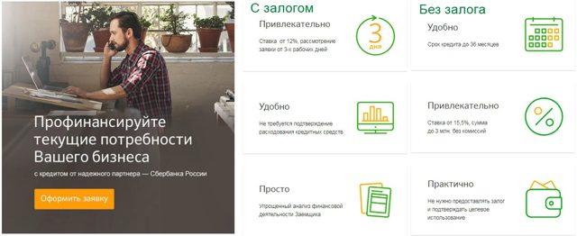 Сбербанк: бизнес-кредит малому бизнесу